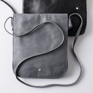 Eileen Fisher Italian Leather Messenger Purse